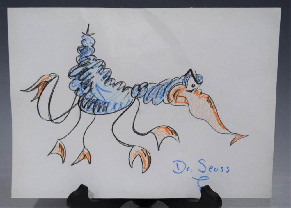 Dr. Seuss, Pastel Drawing (Colored)