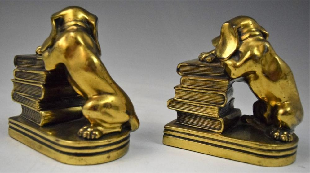Brass Bookends (Dogs)