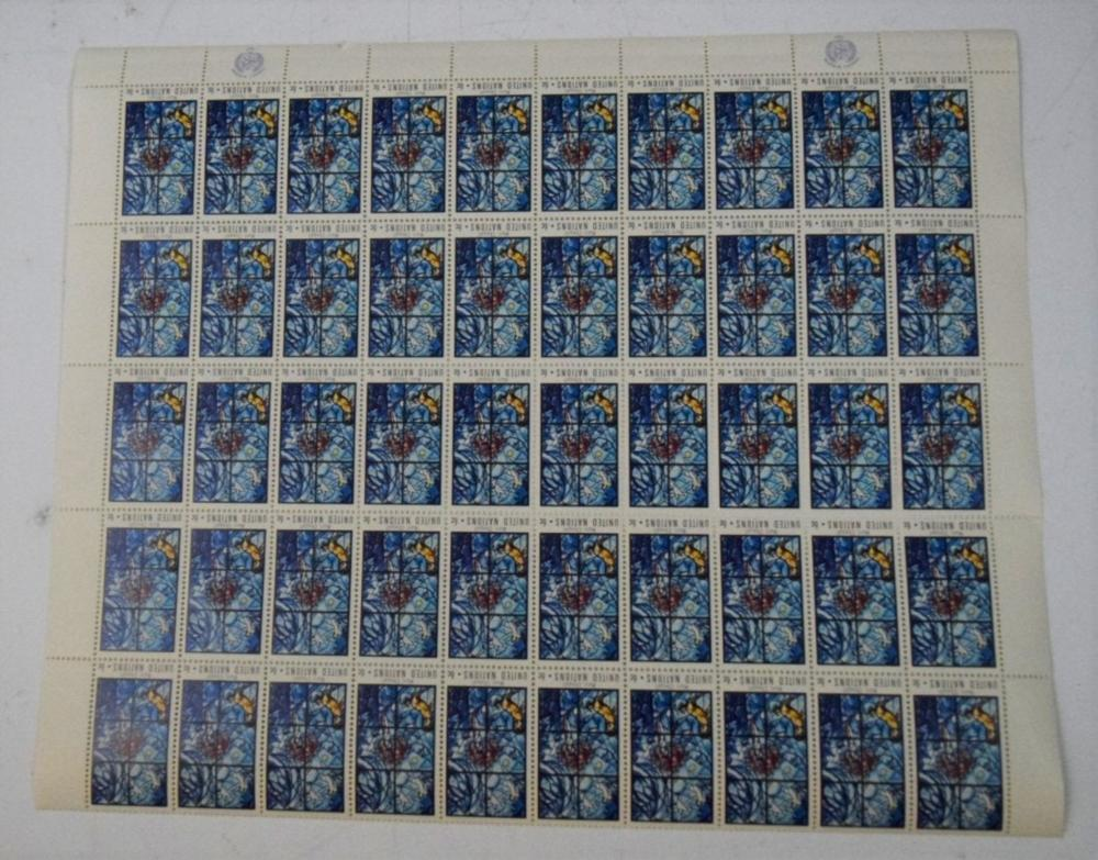 Marc Chagall, Sheet of Stamps