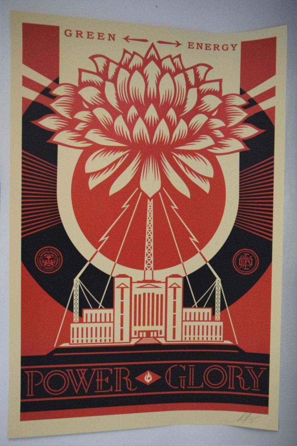 Shepard Fairey, Signed Offset Lithograph (Power Glory)