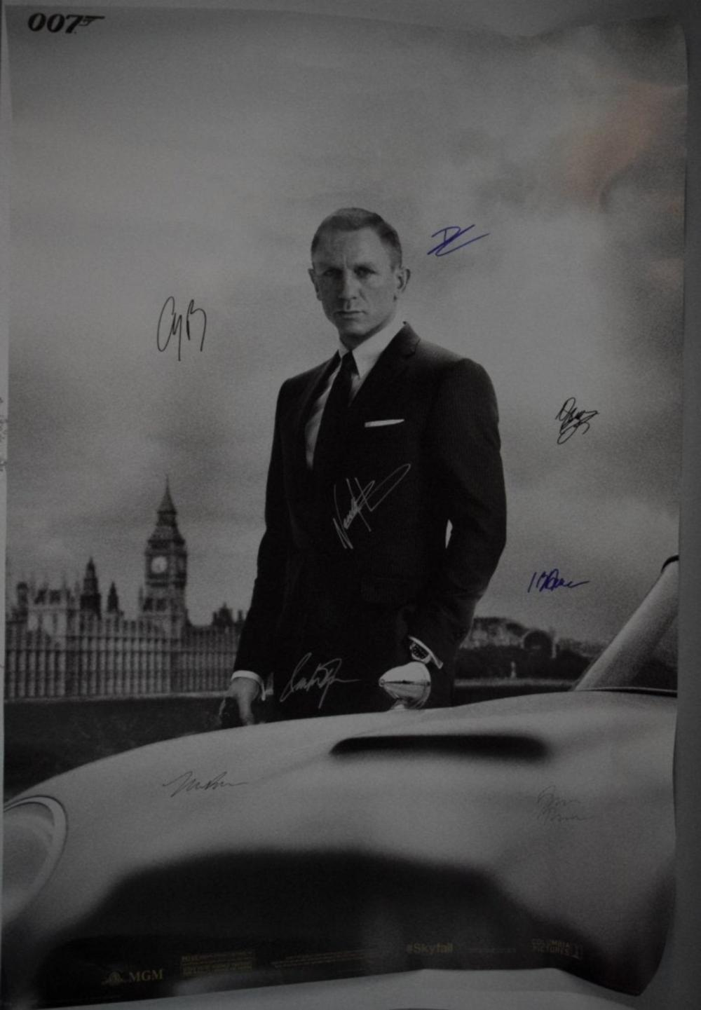 James Bond Movie Poster (Signed by Cast)