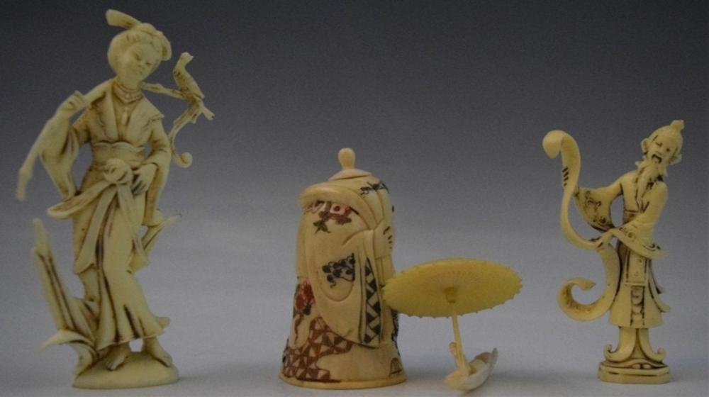 Bone Carving Chinese Figures (Grouping)