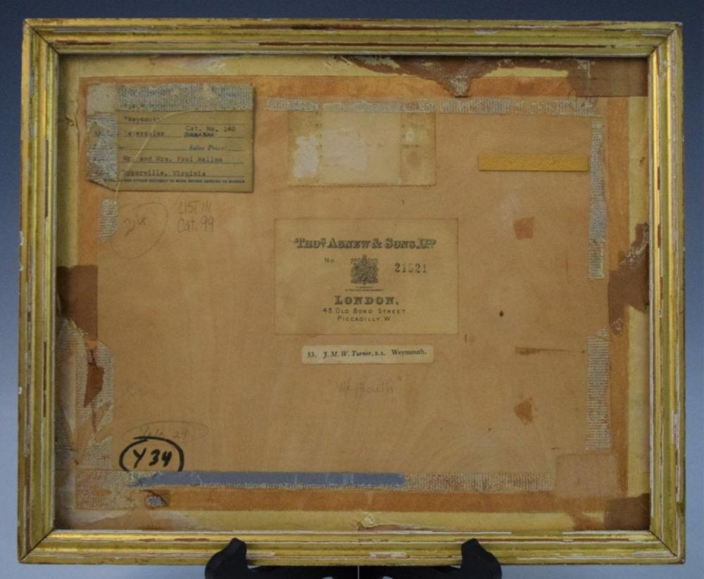 J.M.W. Turner Provenance and Frame to Painting
