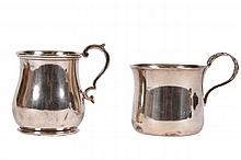 TWO STERLING SILVER CHILDEN'S CUPS