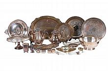 GROUP OF VINTAGE SILVER PLATE