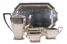 DURGIN, STERLING SILVER COFFEE SERVICE