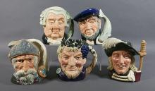Five ROYAL DOULTON Large 7-1/2