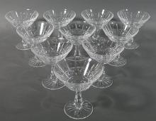 10 WATERFORD KYLEMORE Crystal Champagne Stems