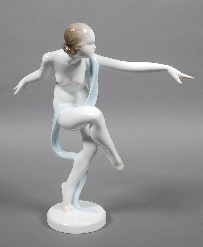 Herend Hungarian Porcelain Nude Woman Figurine