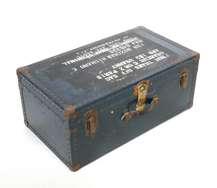 1940s St Pete Army WWII Vet Trunk Foot Locker