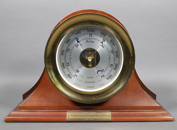 Chelsea Ship's Clock style Brass Barometer, Stand