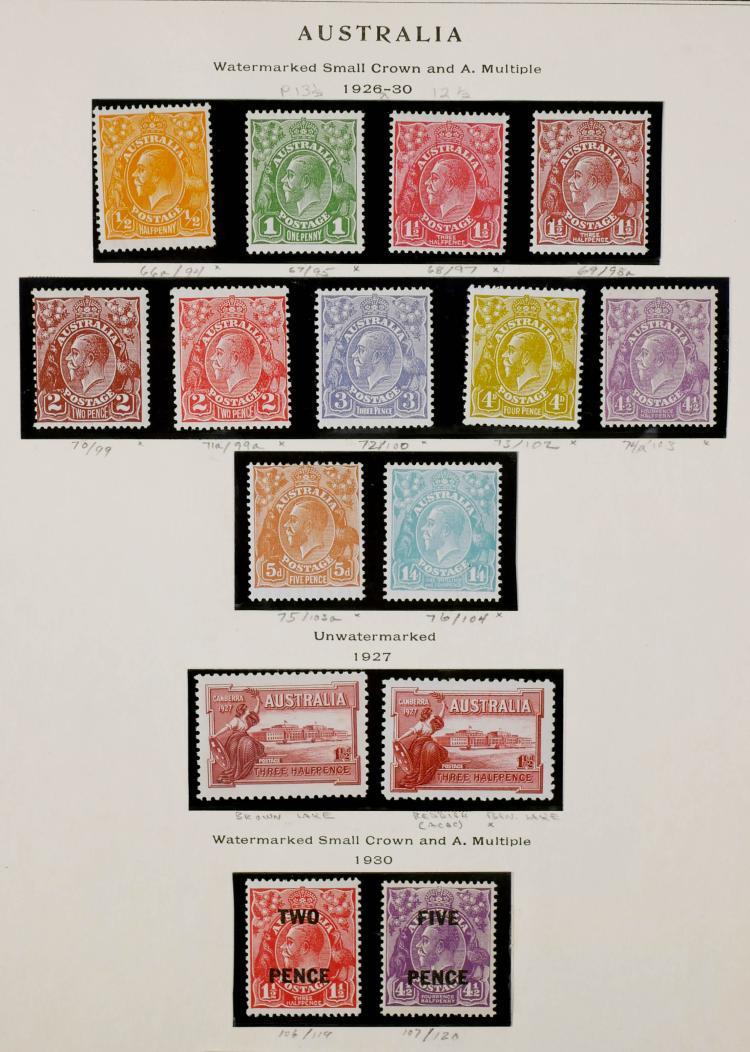 AUSTRALIA, 1926-30, CV ~$400