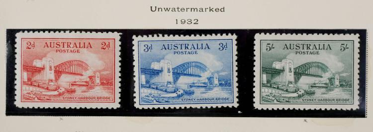 AUSTRALIA, 1932, 2p-5sh, #130-132 Unused CV $580