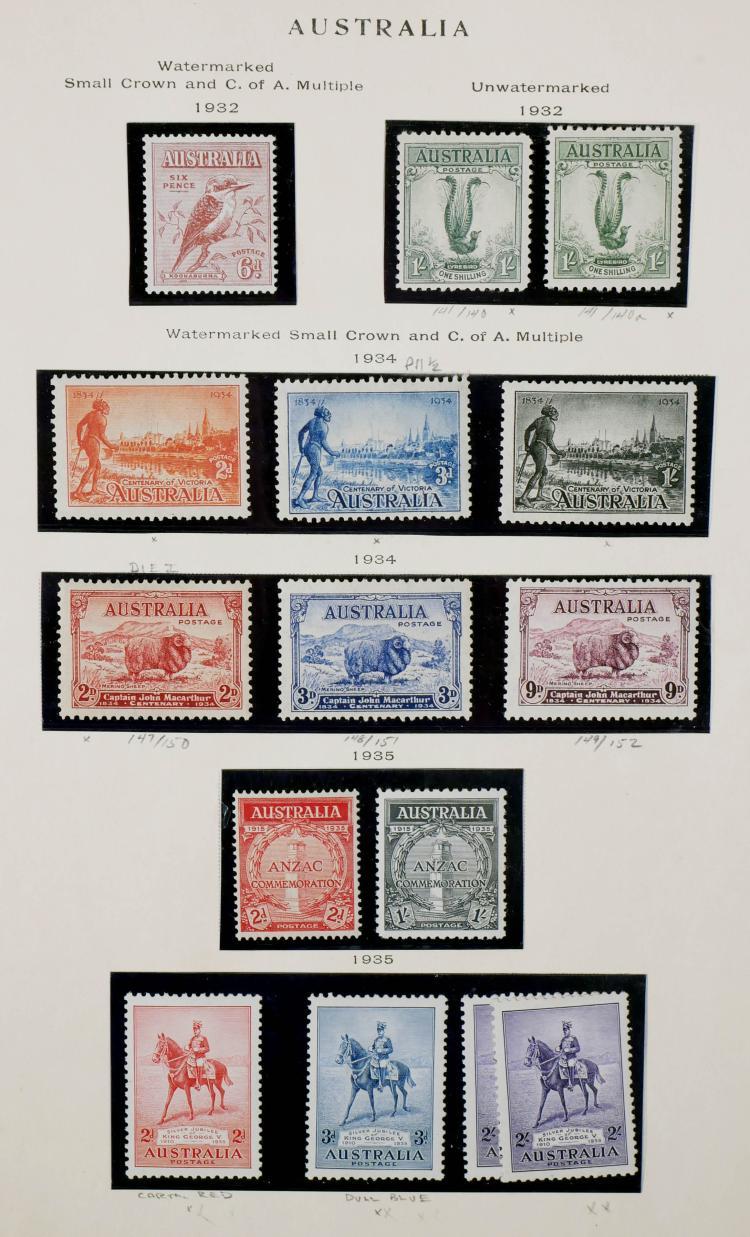 AUSTRALIA, 1932-35, all unused CV ~$350