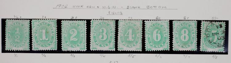 AUSTRALIA, Postage Due, #1-8, mostly unused