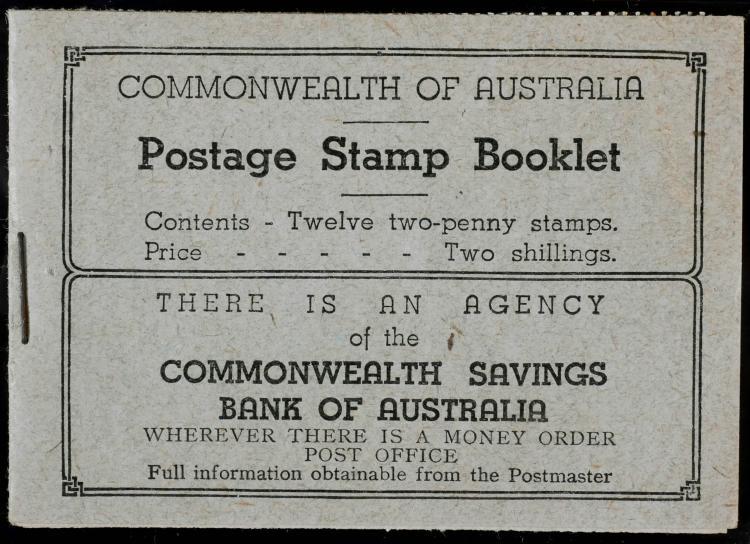 AUSTRALIA, 1931-36 2p Booklet #116