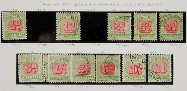 AUSTRALIA, Postage Due #39-49, most used CV $1,075