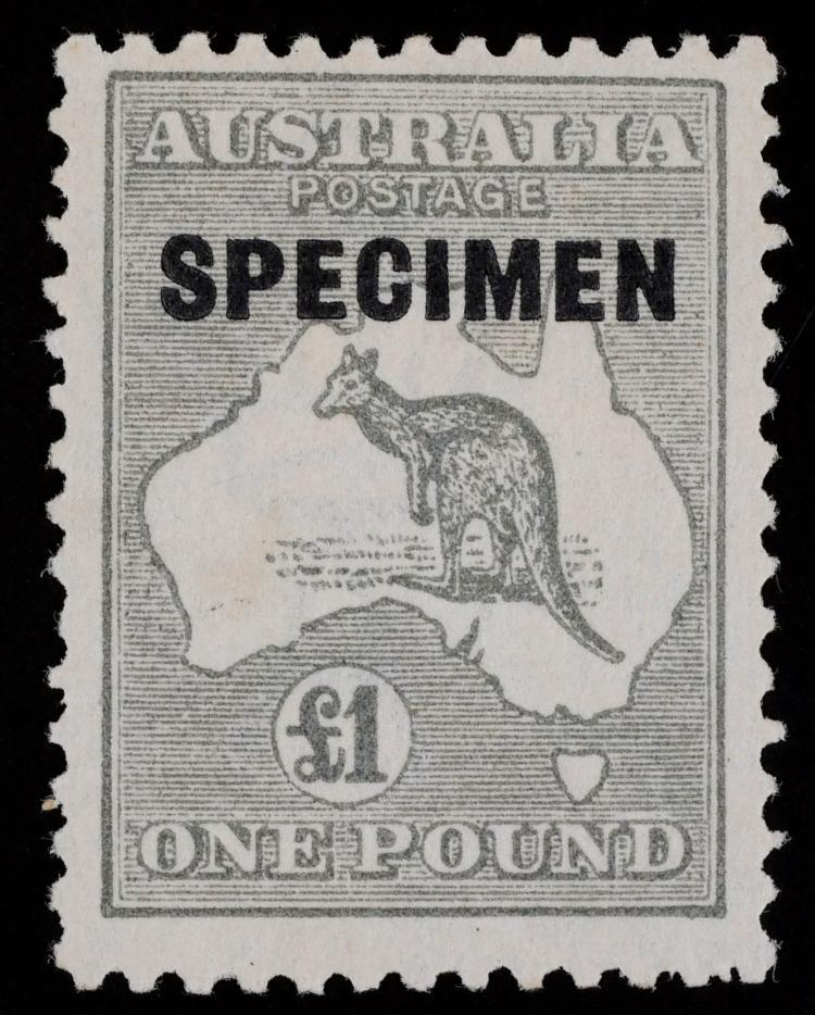 AUSTRALIA, Kangaroo Map 1 pound Specimen