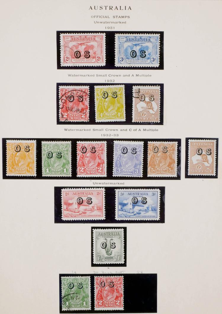 AUSTRALIA, 1931-33 Official Stamps CV $500