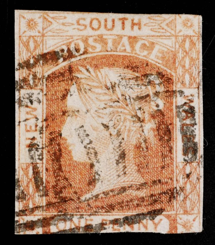 NEW SOUTH WALES, 1852-55, 1p red, #13