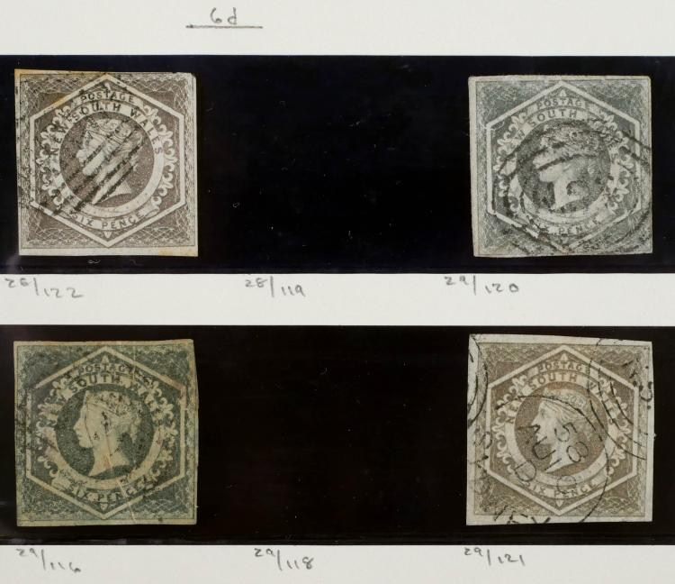 NEW SOUTH WALES, 1854-55, #28, 29 (3)