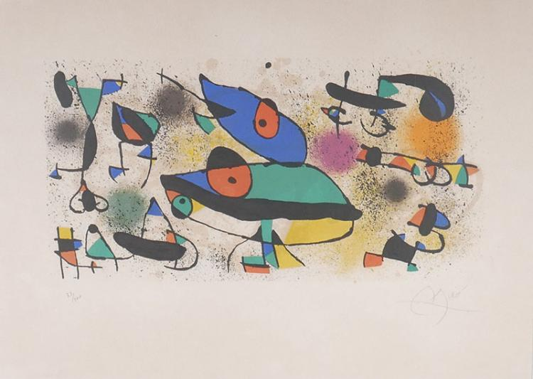 Joan Miro Lithograph Signed & Numbered to 100