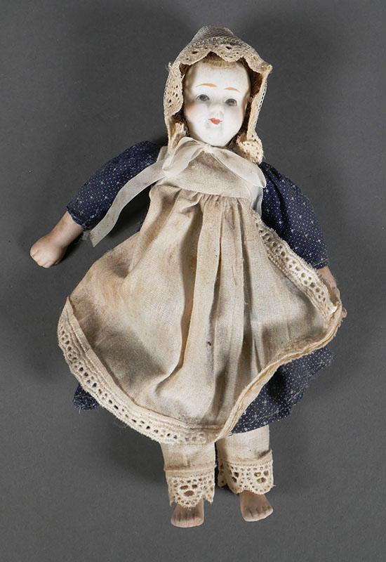 Antique Bisque Head Doll 8