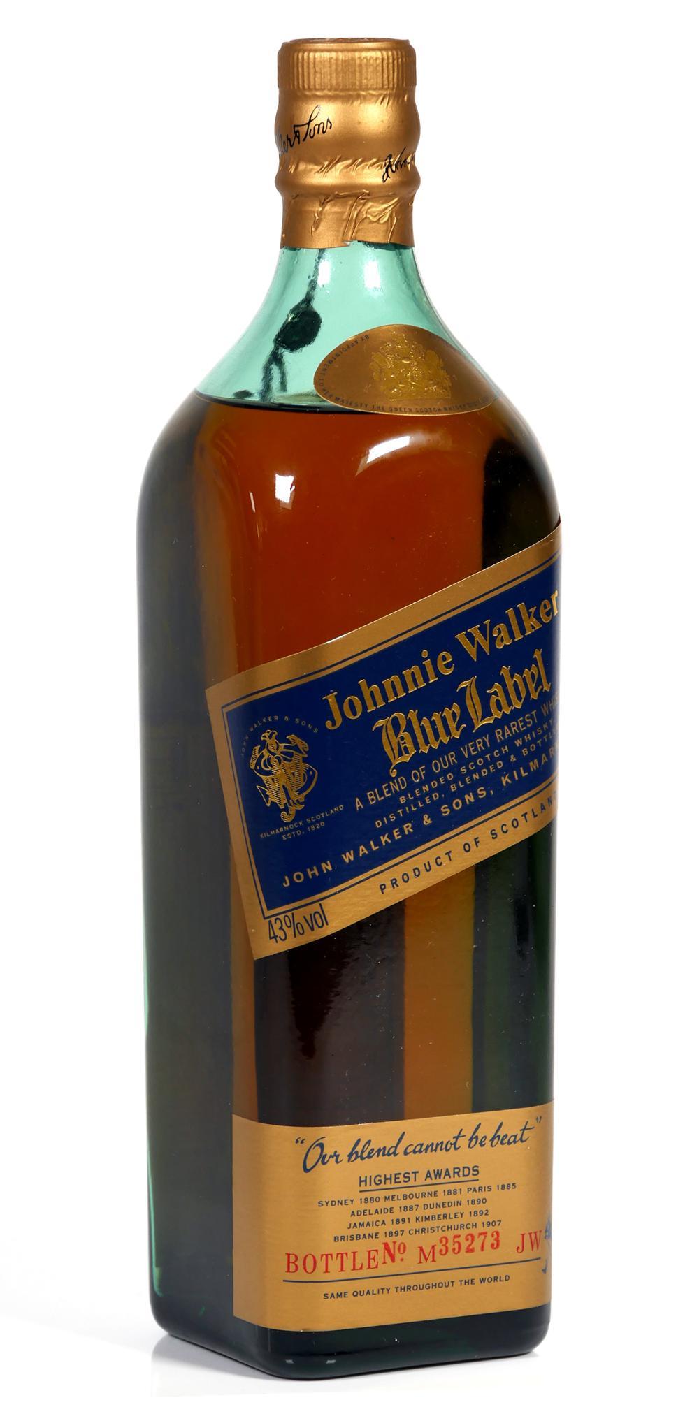 Vintage Johnnie Walker Blue Sealed Bottle