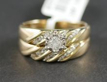 10K YG DIAMOND WEDDING SET