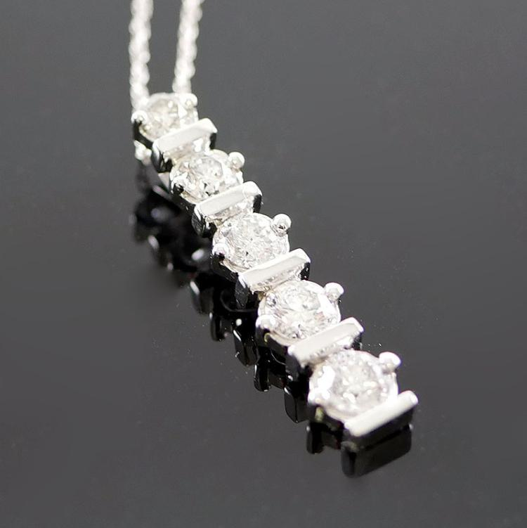14K WG DIAMOND NECKLACE