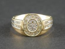 14K YG DIAMOND RING 1/3 CARAT