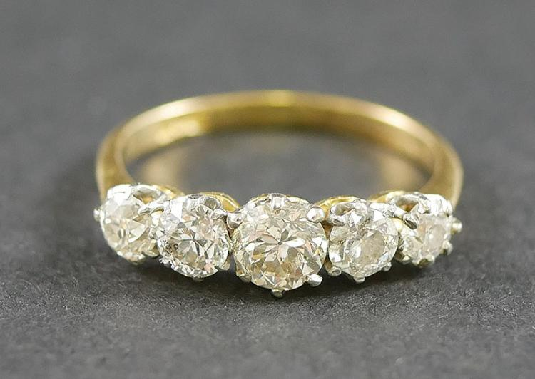 18K DIAMOND RING 1 1/4 CARAT