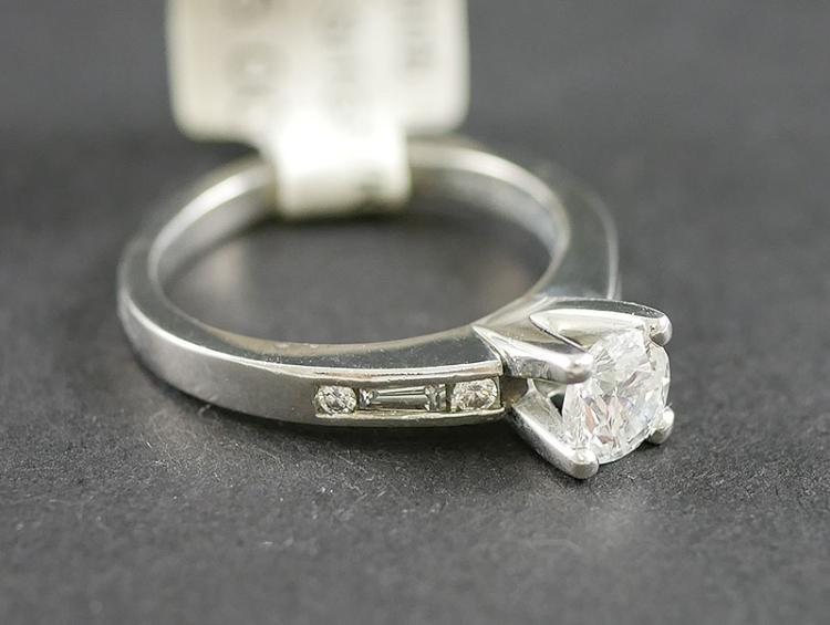 PLATINUM .92 CT DIAMOND RING APPRAISAL $6240
