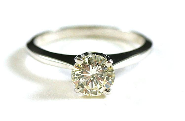 .96 CARAT 14K WHITE GOLD SOLITAIRE RING