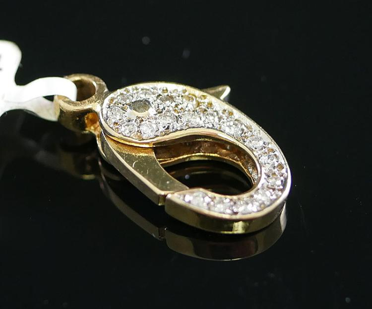 FANCY 14K DIAMOND CLASP