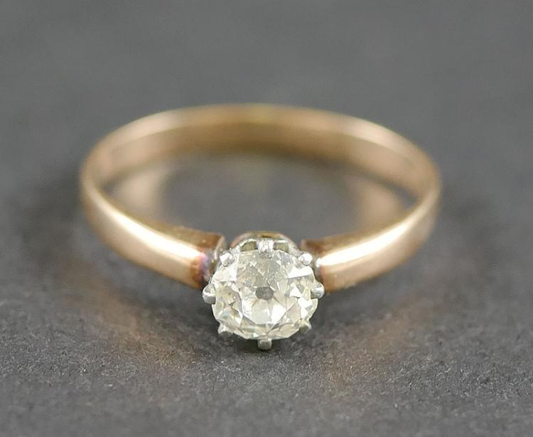 OLD ESTATE DIAMOND SOLITAIRE  RING  14K