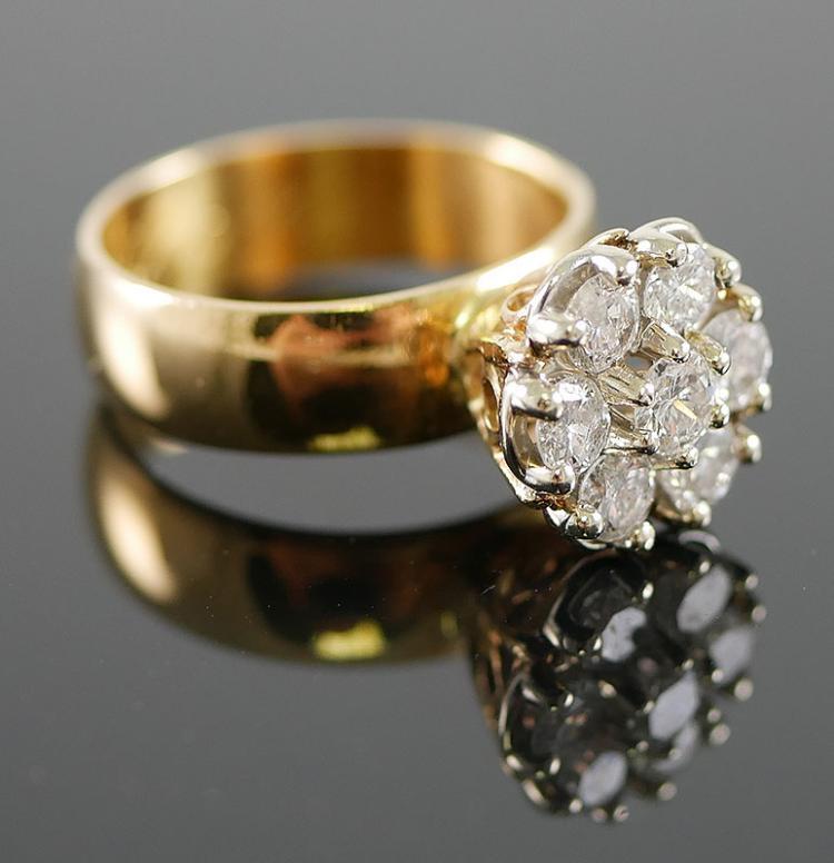 18K YG 1.00 CARAT DIAMOND RING