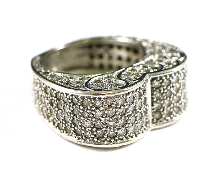 3.00 CARAT DIAMOND RING IN WG 14K