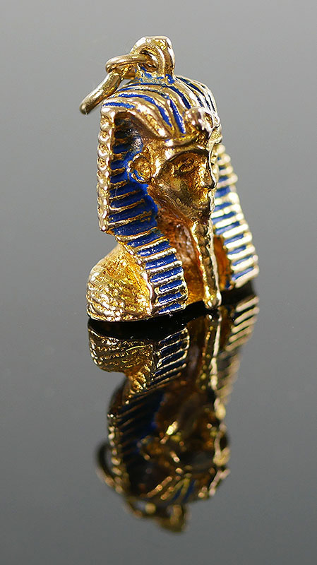 VINTAGE 9K GOLD EGYPTIAN SPHINX PENDANT