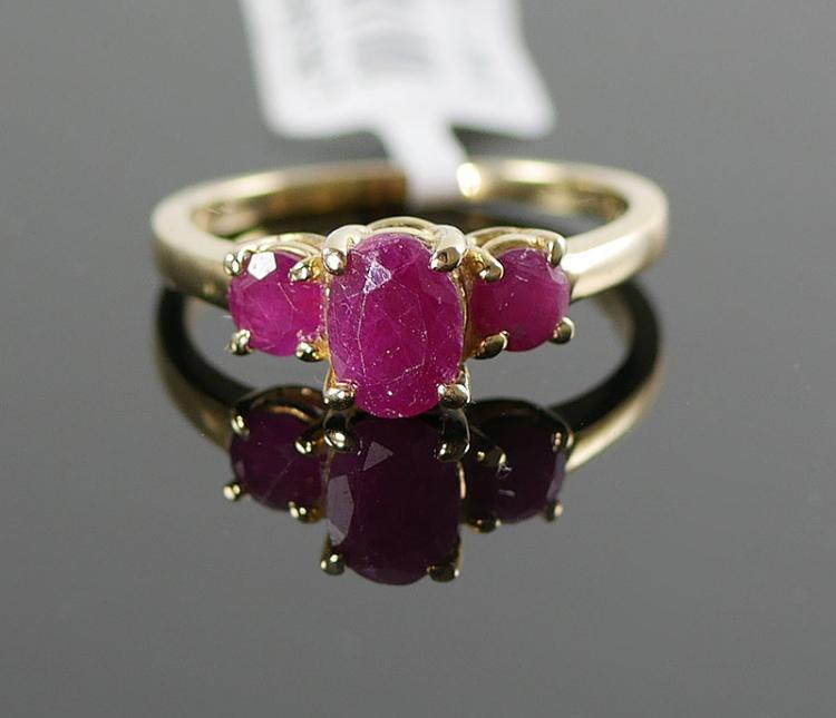 10K YG RUBY RING 1.25 CARATS