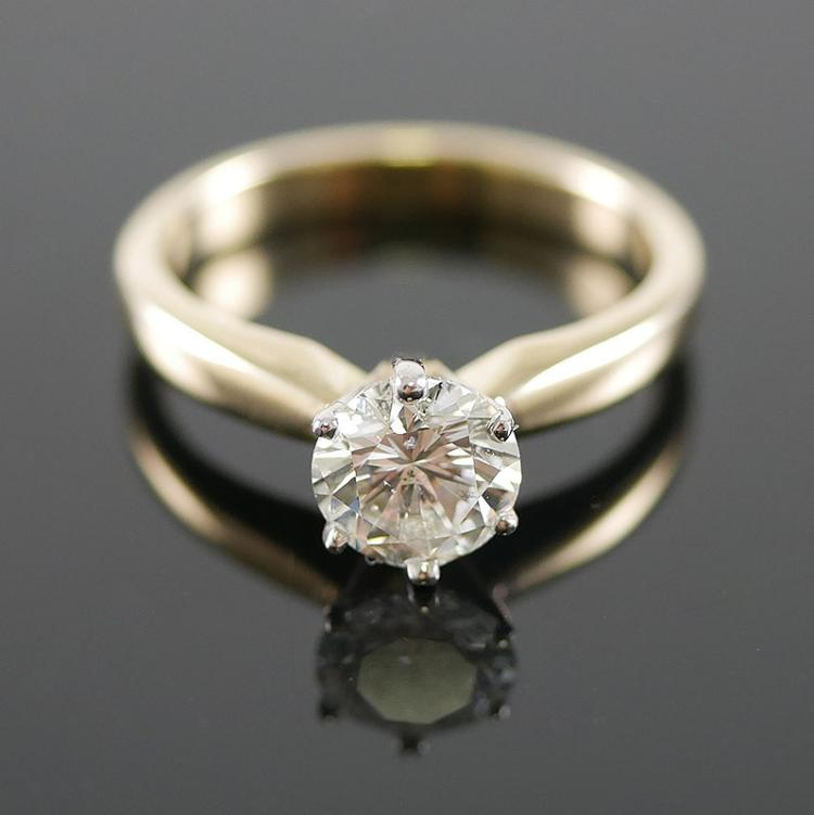 1.01 DIAMOND SOLITAIRE 14K RING