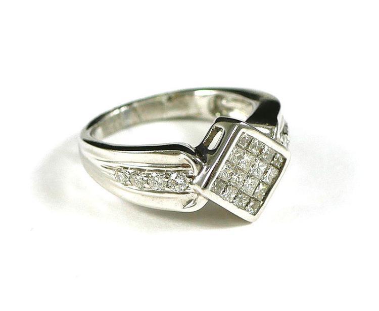 14k WG DIAMOND RING 1 CARAT