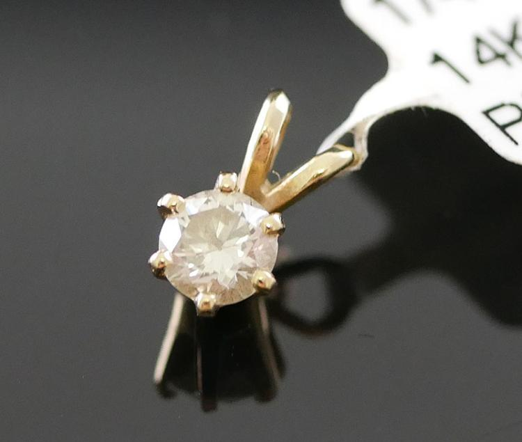 1/4 CARAT DIAMOND PENDANT 14K