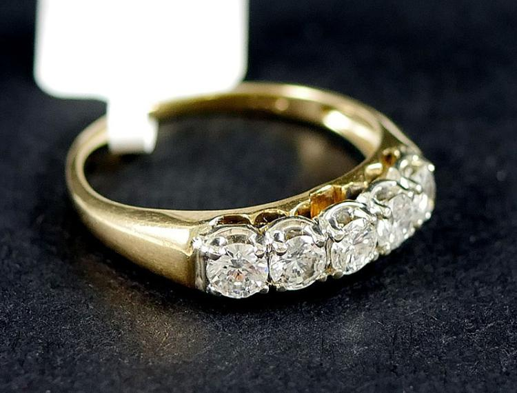 14K YG DIAMOND RING 1/2 CARAT