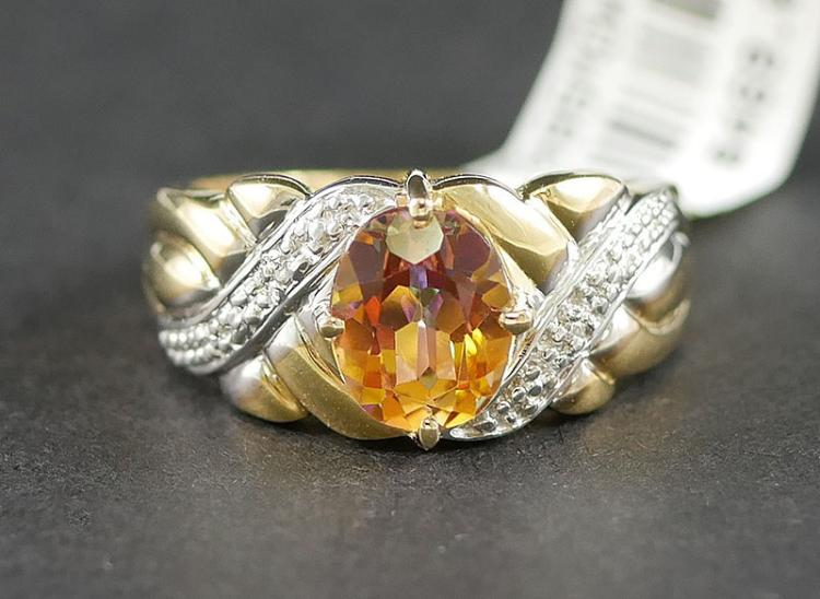 14K MANDARIN SPESSARTITE WITH DIAMONDS
