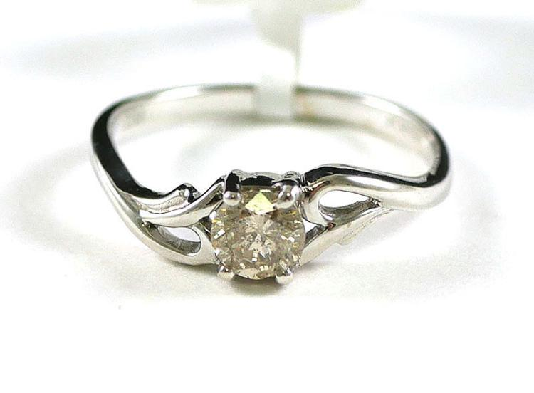 14K WG DIAMOND SOLITAIRE RING 1/2 CARAT