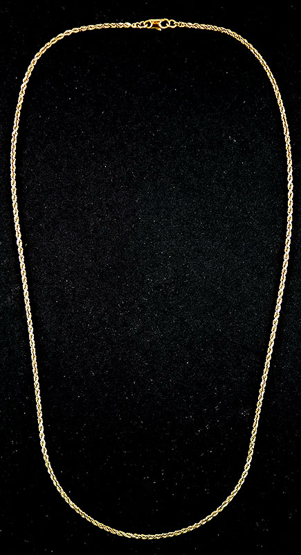 18K ROPE NECKLACE CHAIN
