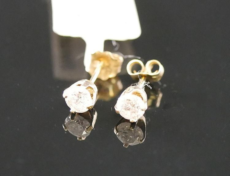 14K DIAMOND EARRINGS .40 CARATS