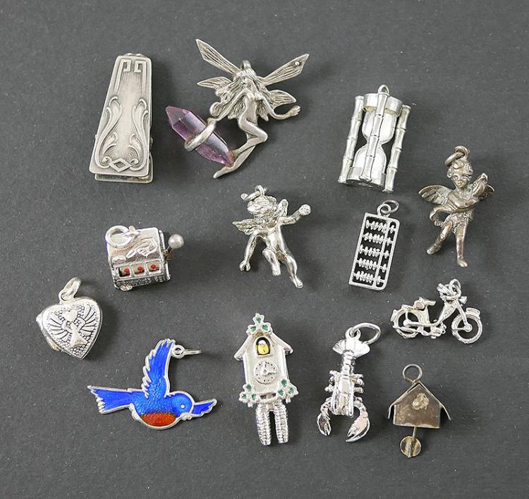 13- STERLING SILVER CHARMS