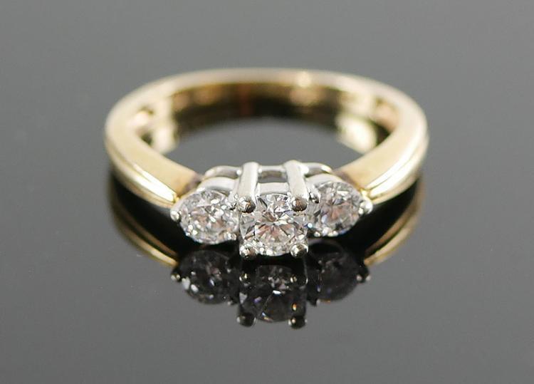 14K DIAMOND RING 1/2 CARAT
